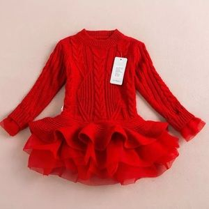 Other - Knit Tulle Sweater Dress